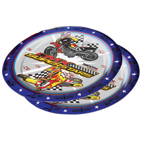 Smooth Industries MX Superstars Birthday Party Plates - 10 Pack