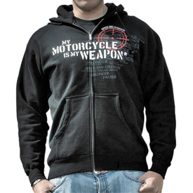 Speed and Strength My Motorcycle is My Weapon Zip-Up Hooded Sweatshirt