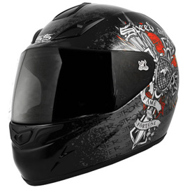 Speed and Strength Fame and Fortune Motorcycle Helmet