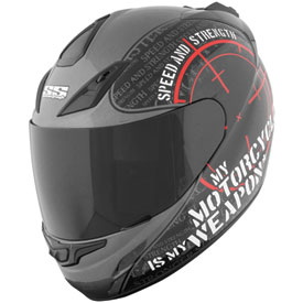 Speed and Strength My Weapon Motorcycle Helmet