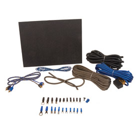 SSV Works 8 Gauge Amplifier Wiring Kit with Mounting Brackets