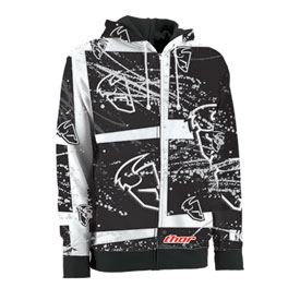 Thor Splatter Zip-Up Hooded Sweatshirt