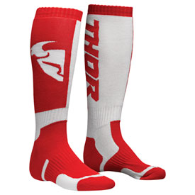 Thor Youth MX Socks Size 1-7 Red/White