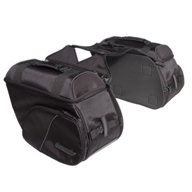 Tourmaster Nylon Cruiser III Large Slant Motorcycle Saddlebag