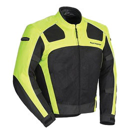 Tourmaster Draft Air Series 3 Motorcycle Jacket X-Large Hi-Viz Yellow/Black