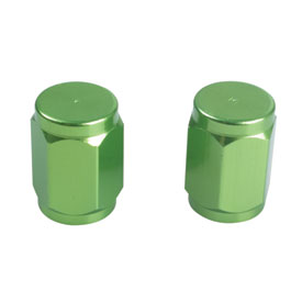 Tusk Billet Aluminum Valve Stem Caps  Green
