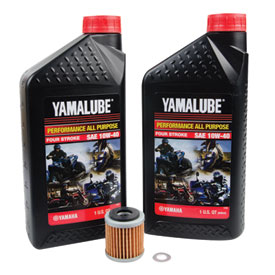 Tusk 4-Stroke Oil Change Kit  Yamalube All Purpose 10W-40