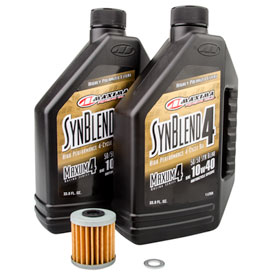 Tusk 4-Stroke Oil Change Kit  Maxima Synthetic Blend 10W-40