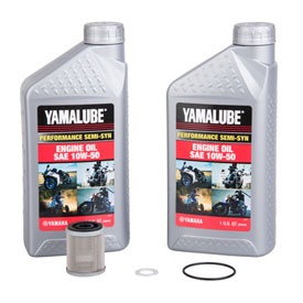 Tusk 4-Stroke Oil Change Kit  Yamalube Performance Semi-Syn 10W-50