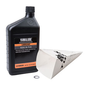 Tusk 2-Stroke Transmission Oil Change Kit  Yamalube Trans Oil Plus 20W-40