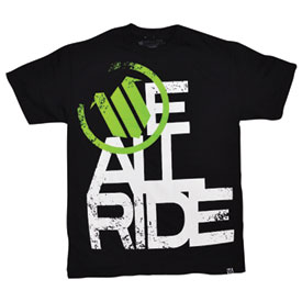 We All Ride Letter T-Shirt
