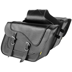 Willie & Max Braided Fleetside Slant Motorcycle Saddlebag