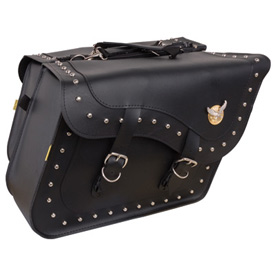 Willie & Max Studded Fleetside Slant Motorcycle Saddlebag