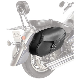 Willie & Max Synthetic Leather Throwover Motorcycle Saddlebags - Large
