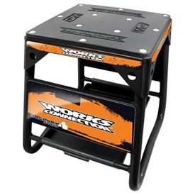 Works Connection Factory 4 Stand  Black w/Orange Decals