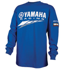 yamaha racing long sleeve t shirt casual rocky mountain atv mc. Black Bedroom Furniture Sets. Home Design Ideas