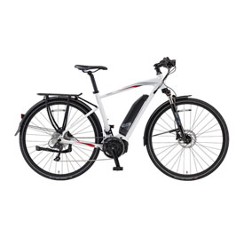 Yamaha Cross Connect Power Assist Bicycle Polar White Crimson Large