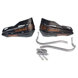 Zeta Armor Pro Bend Hand Guards With Turn Signal Plastic Shields
