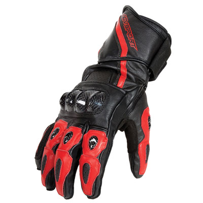 AGV Sport Intrepid Leather Motorcycle Gloves X-Large Black/Red