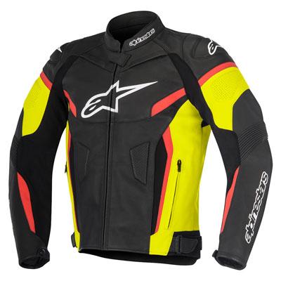 Alpinestars GP Plus R v2 Leather Jacket Euro 48 Black/Yellow/Red