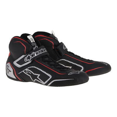 Alpinestars Tech 1-T Racing Shoes Size 5 Black/Red/Silver