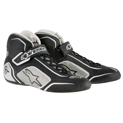 Alpinestars Tech 1-T Racing Shoes Size 8.5 Black/Silver
