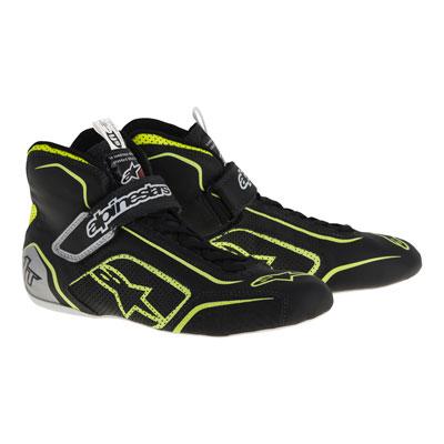 Alpinestars Tech 1-T Racing Shoes Size 9.5 Black/Yellow