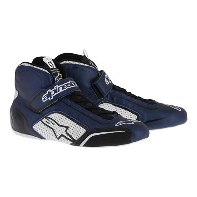 Alpinestars Tech 1-T Racing Shoes Size 8.5 Blue/White/Black