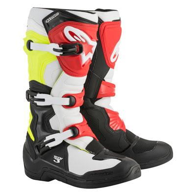 Alpinestars Tech 3 Boots Size 16 Black/White/Flo Yellow/Red