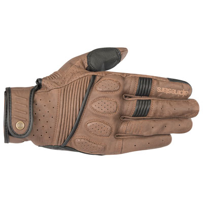 Alpinestars Oscar Crazy Eight Leather Gloves X-Large Brown