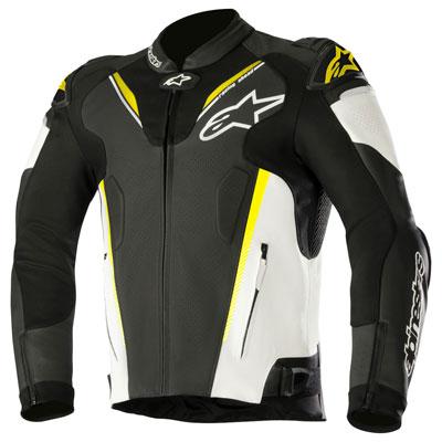 Alpinestars Atem V3 Leather Jacket Euro 48 Black/White/Yellow