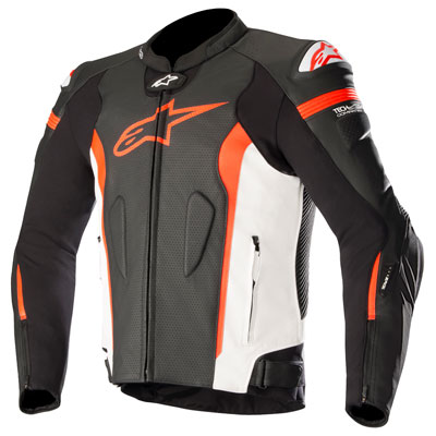 Alpinestars Missile Tech-Air Leather Jacket Euro 54 Black/White/Red
