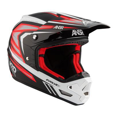 Answer Racing Evolve 3 Helmet Medium Black/Red/White
