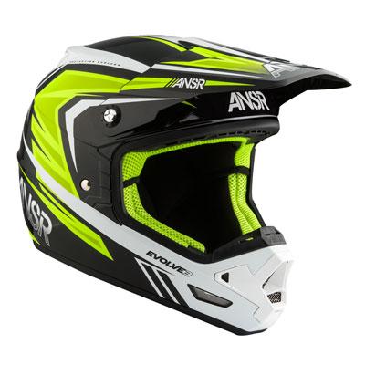 Answer Racing Evolve 3 Helmet X-Large Black/White/Hi-Viz