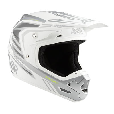 Answer Racing Evolve 3 Helmet X-Large White/Grey