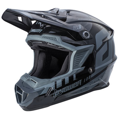 Answer Racing AR1 Helmet XX-Large Grey/Black