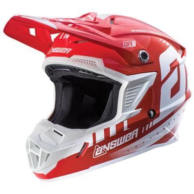 Answer Racing AR1 Helmet Medium White/Red