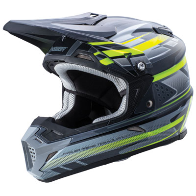 Answer Racing AR5 MIPS Helmet Medium Grey/Black/Hi-Viz
