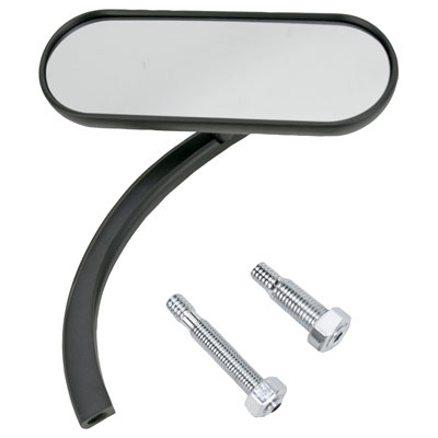 Arlen Ness Oval Micro Mirror Right Side Black