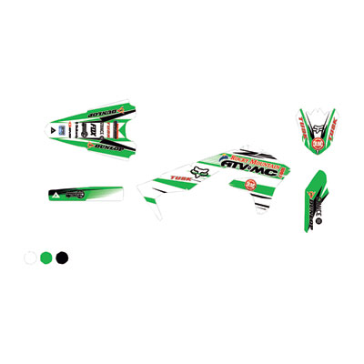 Attack Graphics Custom Blitz Full Trim Kit  White/KX Green