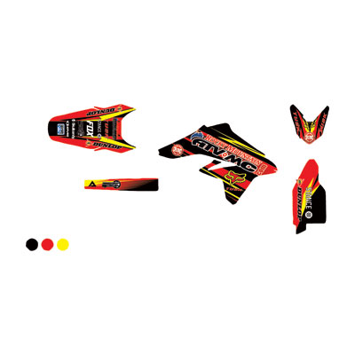 Attack Graphics Custom Blitz Full Trim Kit  Black/Red