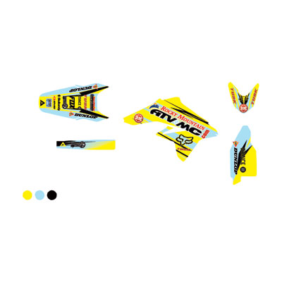 Attack Graphics Custom Blitz Full Trim Kit  RM Yellow/Baby Blue