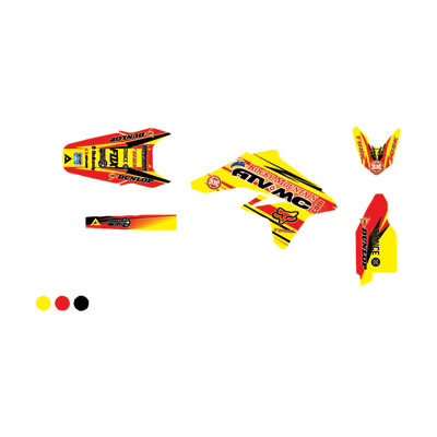 Attack Graphics Custom Blitz Full Trim Kit  RM Yellow/Red