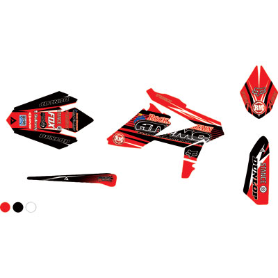 Attack Graphics Custom Blitz Full Trim Kit  Red/Black