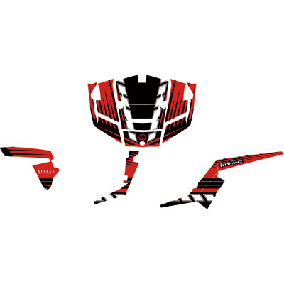Attack Graphics BRUTE Complete UTV Graphics Kit Red/Black/White