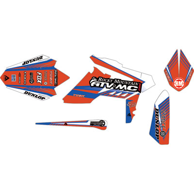 Attack Graphics Custom Turbine Full Trim Kit  Worcs Blue/CR Red