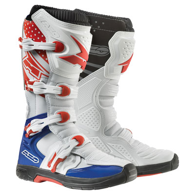 AXO MX One Boots Size 11 White/Red/Blue