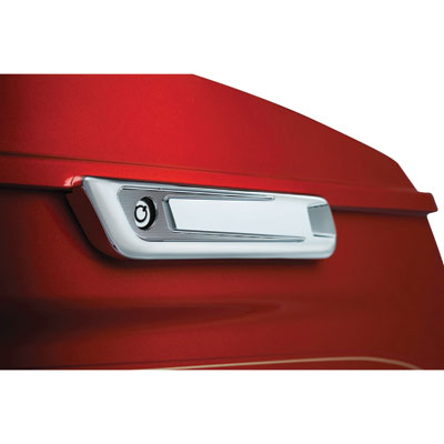 Bahn Saddlebag Hinge Covers  Chrome