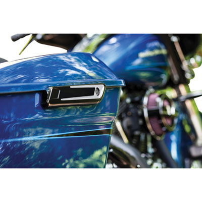 Bahn Saddlebag Hinge Covers  Tuxedo