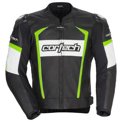 Cortech Adrenaline 2.0 LeatherJacket Large Black/Hi-Viz